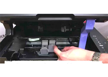 epson xp 420 how to put flap on